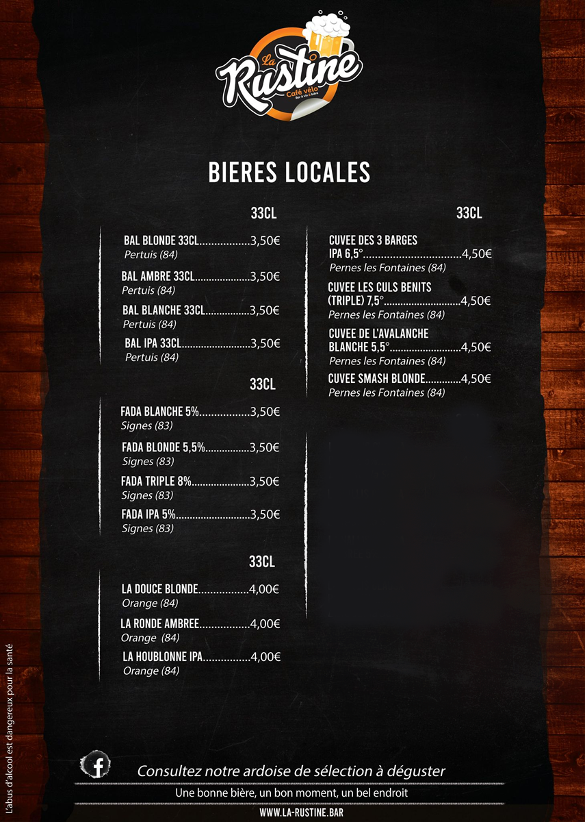 Notre carte des bières locales