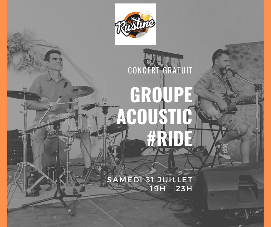 concert groupe acoustic #ride